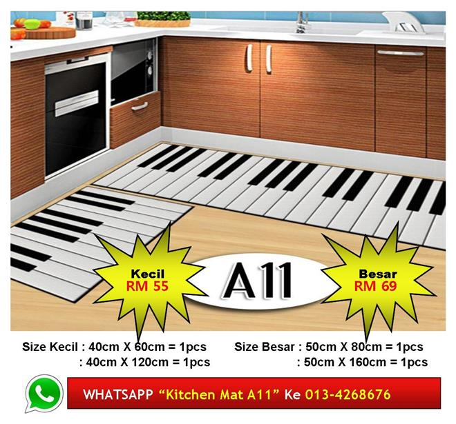Alas Kaki Dapur Kitchen Floor Matt Carpet Design Harmoni Piano Unik