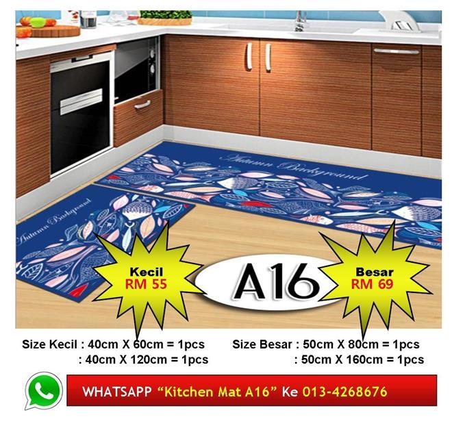 Alas Kaki Dapur Kitchen Floor Matt Carpet Design Ikan Sungai