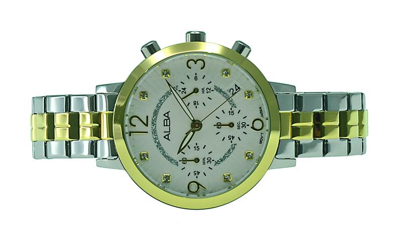 Alba Ladies Chronograph Watch VD53-X231WGS