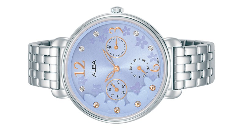 ALBA Ladies Multi Hands Swarovski Crystal Day Date Watch VD75-X130BLSS