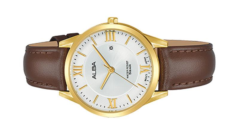 Alba Ladies Prestige Leather Strap Date Watch VJ22-X283SGL