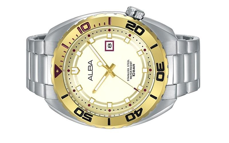 Alba Men Analog Stainless Steel Date Watch VJ32-X273SGS