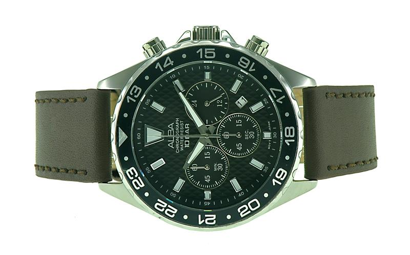 ALBA Men Chronograph Watch VD53-X229BSL