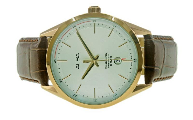 Alba Men Date Watch VJ42-X221SRGL