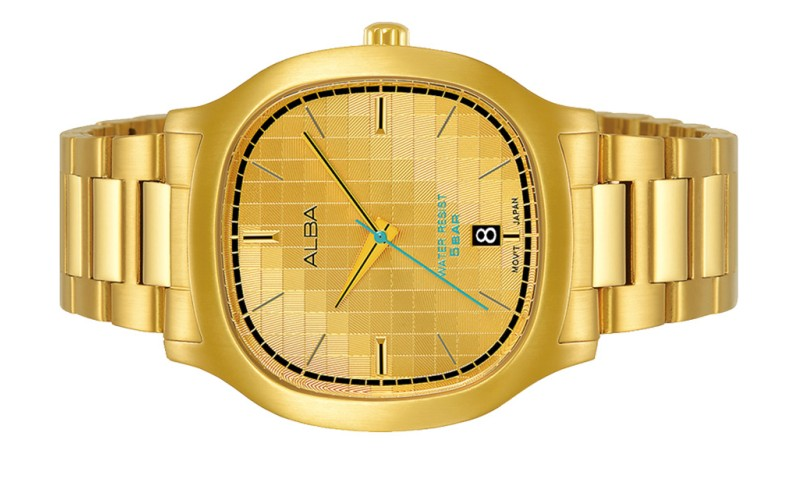 ALBA Men FUSION Gold Stainless Steel Date Watch VJ42-X308GGG