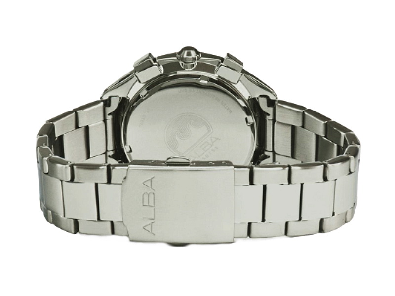 ALBA Men SIGN A Chronograph Stainless Steel Date Watch VD53-X366BGS