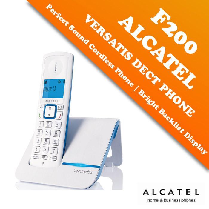 Alcatel DECT Digital Cordless Phone F200 - BLUE