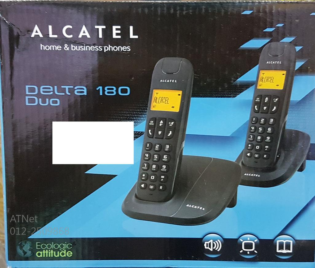 ALCATEL HOME AND BUSINESS DECT PHONE DELTA 180 DUO