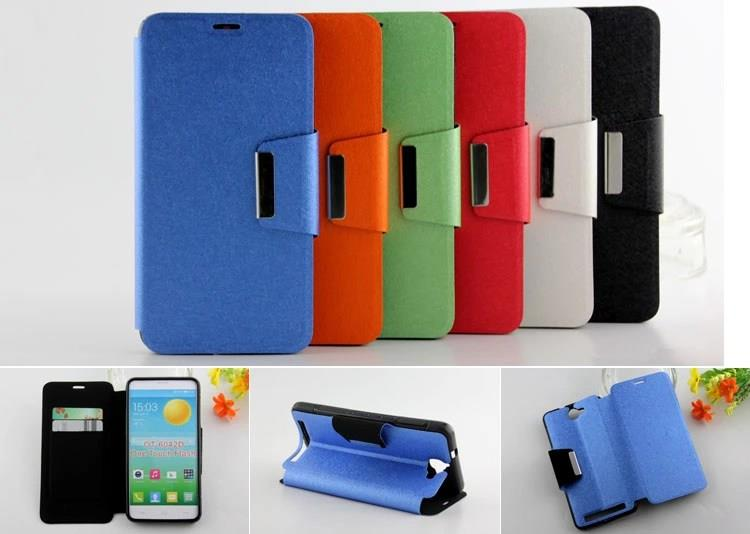 Alcatel One Touch Flash TPU leather Casing Cover Case