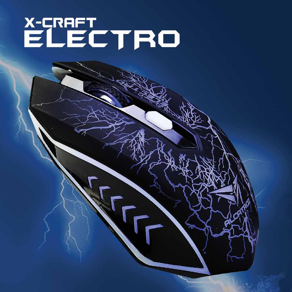 Alcatroz X-Craft Classic Gaming Mouse (2400 CPI) 4 Button