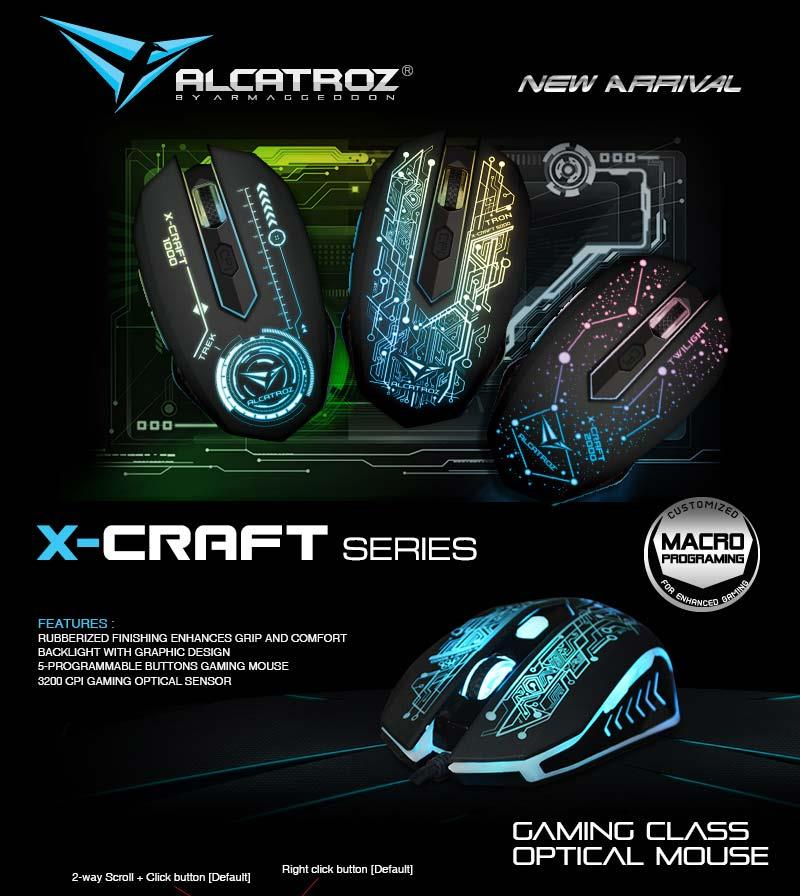 Alcatroz X-Craft PRO Tron 5000 Gaming Mouse Free Mouse pad