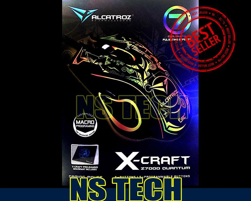 ALCATROZ X-CRAFT Z7000 QUANTUM Gaming Mouse NEW Model