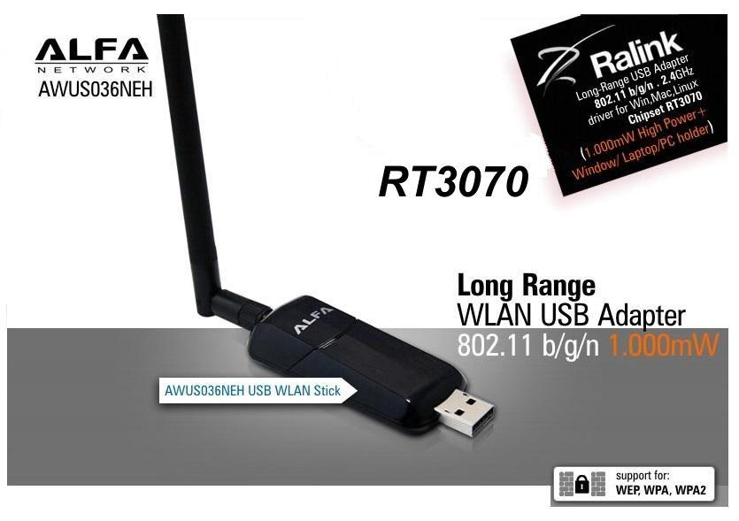 Alfa AWUS036NEH 802 11n WIRELESS-N USB WiFi booster adapter