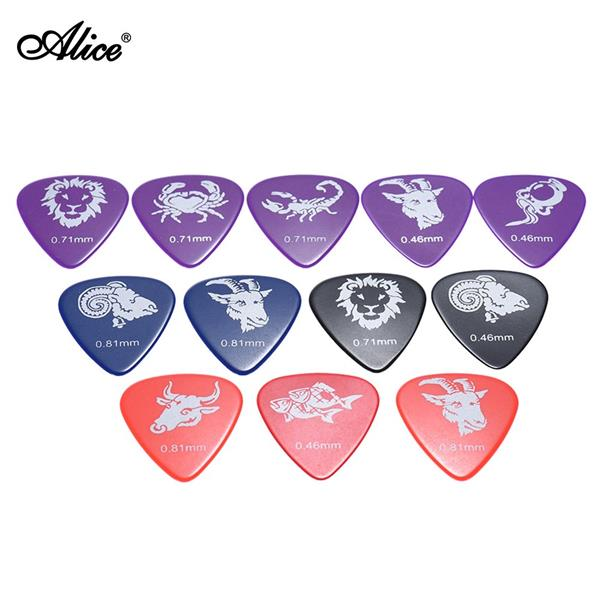 Alice AP-12C 12pcs/pack Celluloid Guitar Picks Plectrum Mix Gauges