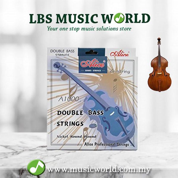G//D//A//E Alice Double Bass Strings Set Steel Core