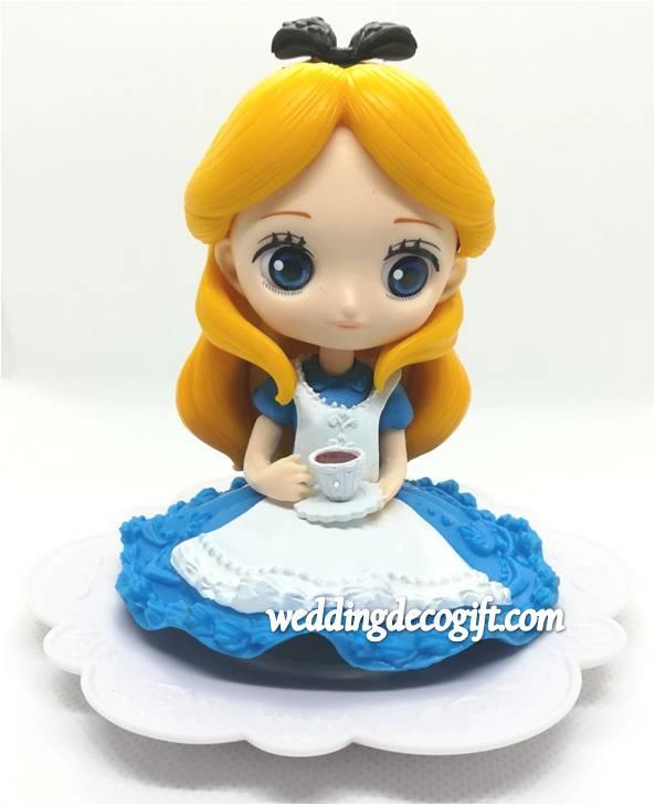 Alice in Wonderland Cake Topper Figure, Toy Alice in Wonderland - CCT5