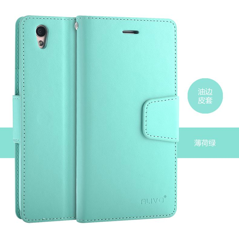 Alivo OPPO A37 AKA NEO 9 Card Slot Flip PU Leather Case Cover Casing
