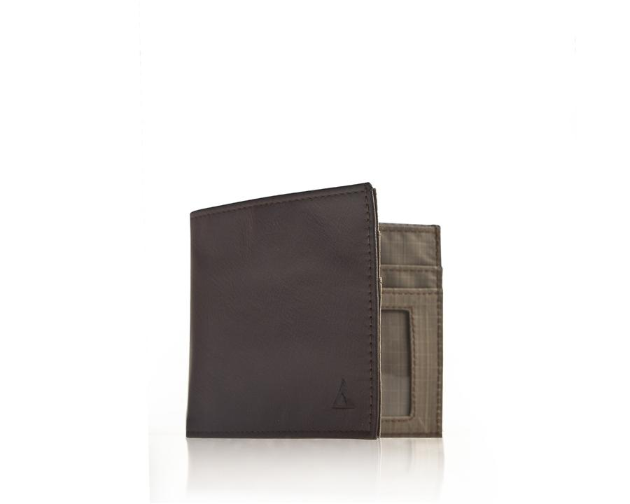 ALLETT CLASSIC LEATHER INSIDE ID WALLET - BROWN