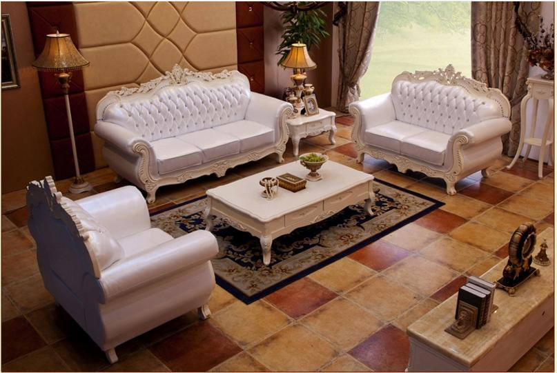 AllFurniture 43480399671 European Leather Sofa Set