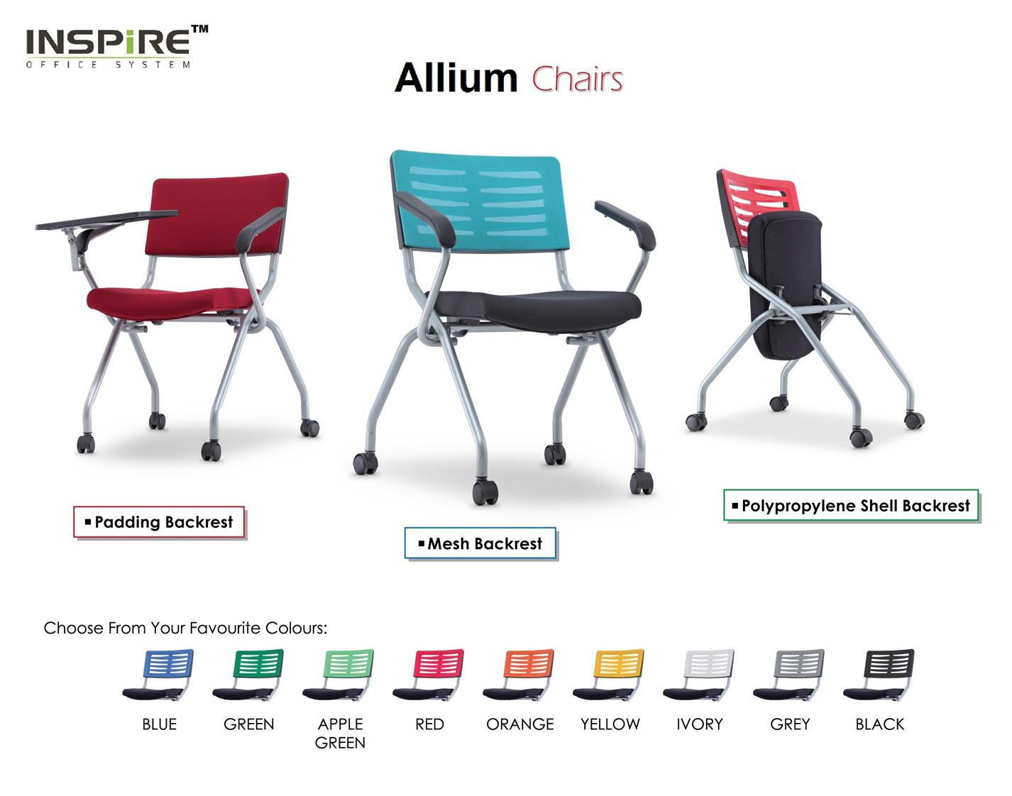 Allium 2MA Foldable Training | Student Chair