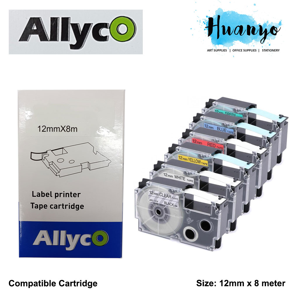 Allyco Casio EZ-Label Tape Cartridge 12MM X 8M (Compatible Refill)