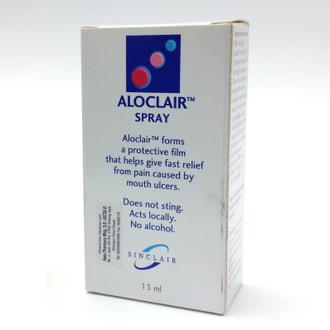 ALOCLAIR SPRAY 15ML (FOR MOUTH ULCERS & SORE THROAT)