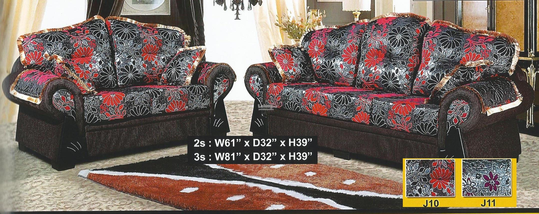 ALORA  2+3 SEATER FABRIC SOFA SET