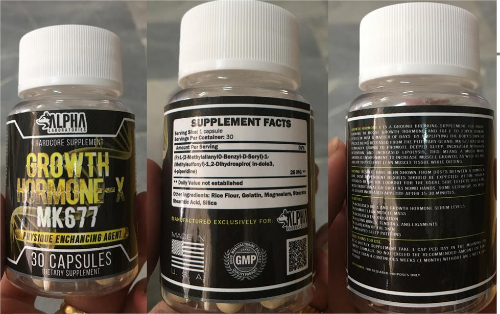 Alpha Lab MK677 SARM (HGH , Otot, Muscle, Anti Aging,Burn Fat) 30 caps