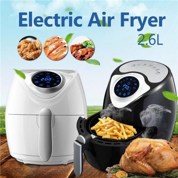 Alpha Living 1300W Digital Air Fryer Rapid Air Technology (KEA0201WH)
