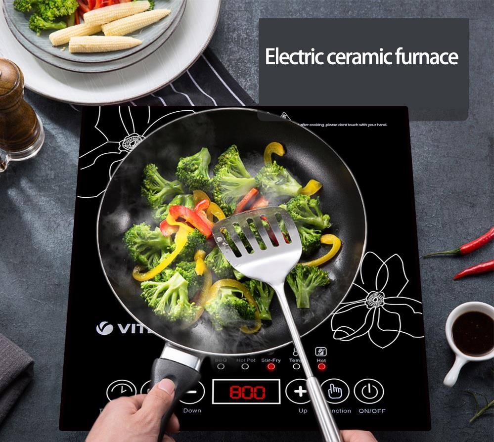 Alpha Living Electric Ceramic Induction Cooker 2500 W (KEA0160BK)
