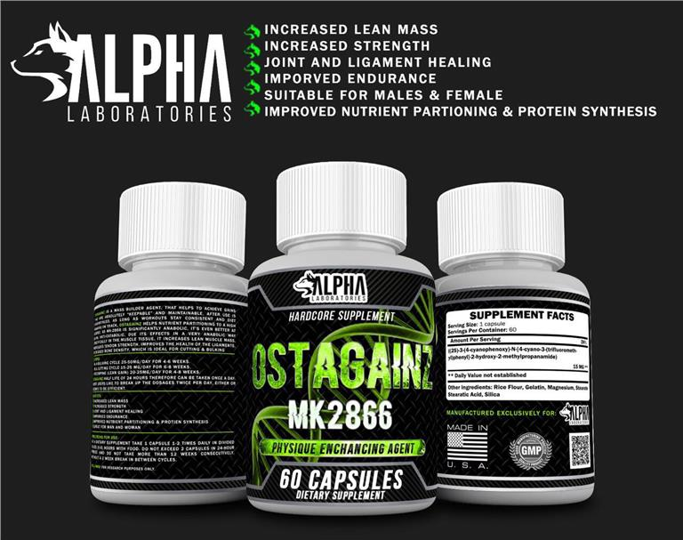 Alpha Sarms Mk2866 Ostarine Ostagain (Recovery+Healing+Energy) 60caps