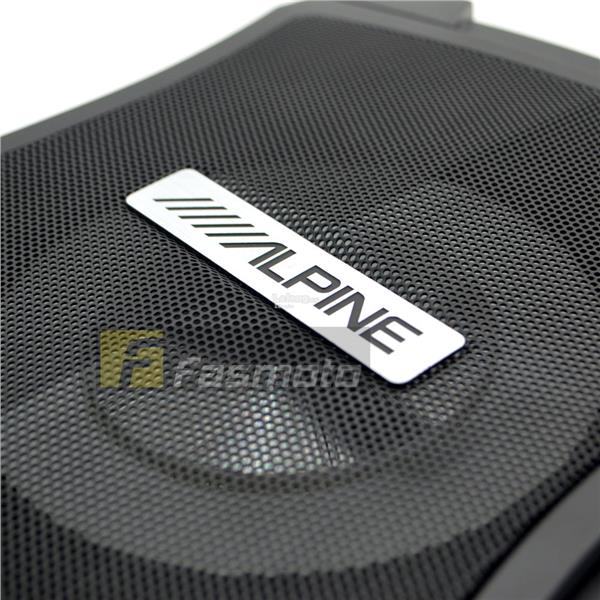 Alpine PWE-V80 Car 8 inch Powered Enclosed Active Subwoofer