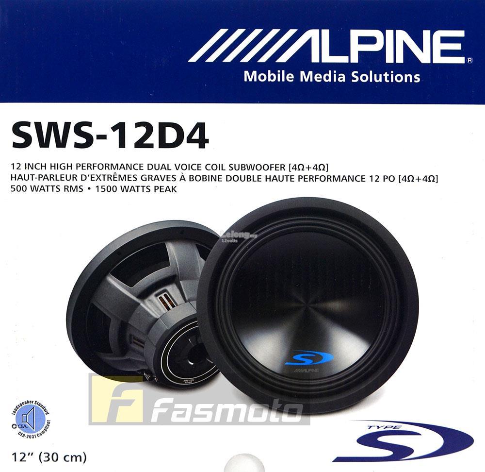 Alpine SWS-12D4 Type-S 12 inch Subwo (end 9/14/2019 4:19 AM)