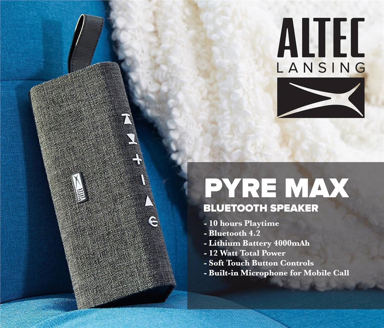Altec Lansing Pyre Max Bluetooth Speaker - Grey