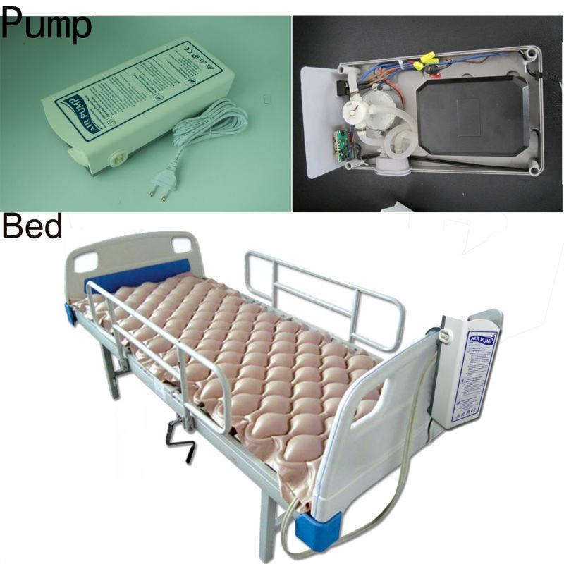 Alternating air ripple mattress + pump anti decubitus prevent bed sore