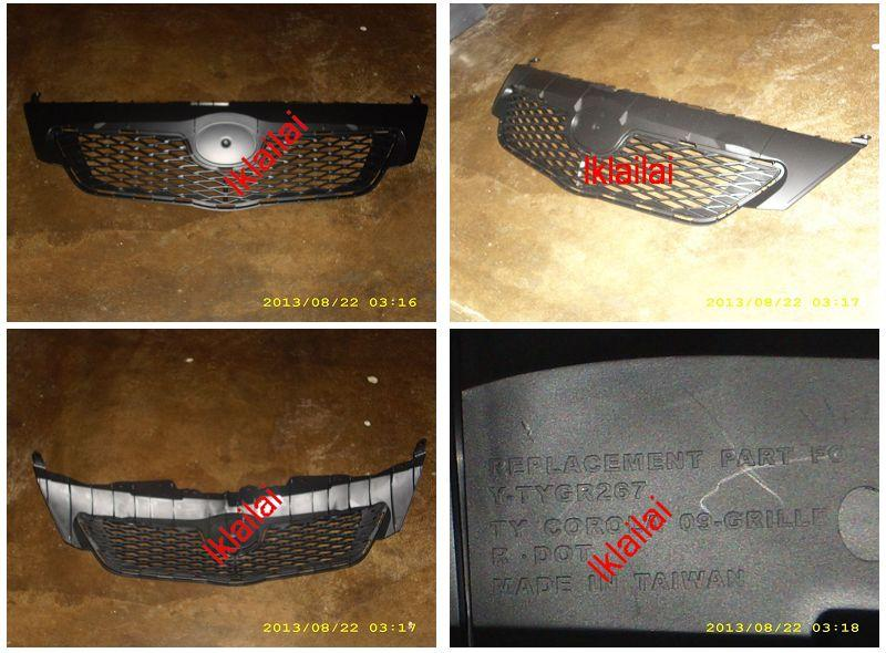 NEW ALTIS '08 Type-Z Front Grille All Black [ABS Material]