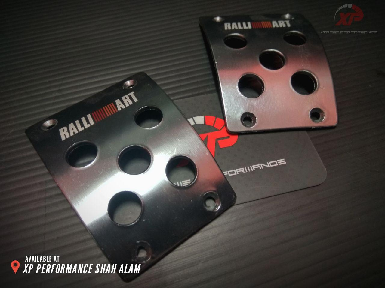 Aluminium Manual RalliArt Style Foot Pedals Covers