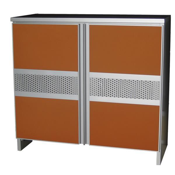 Aluminium Shoe Cabinet SC777233 Orange