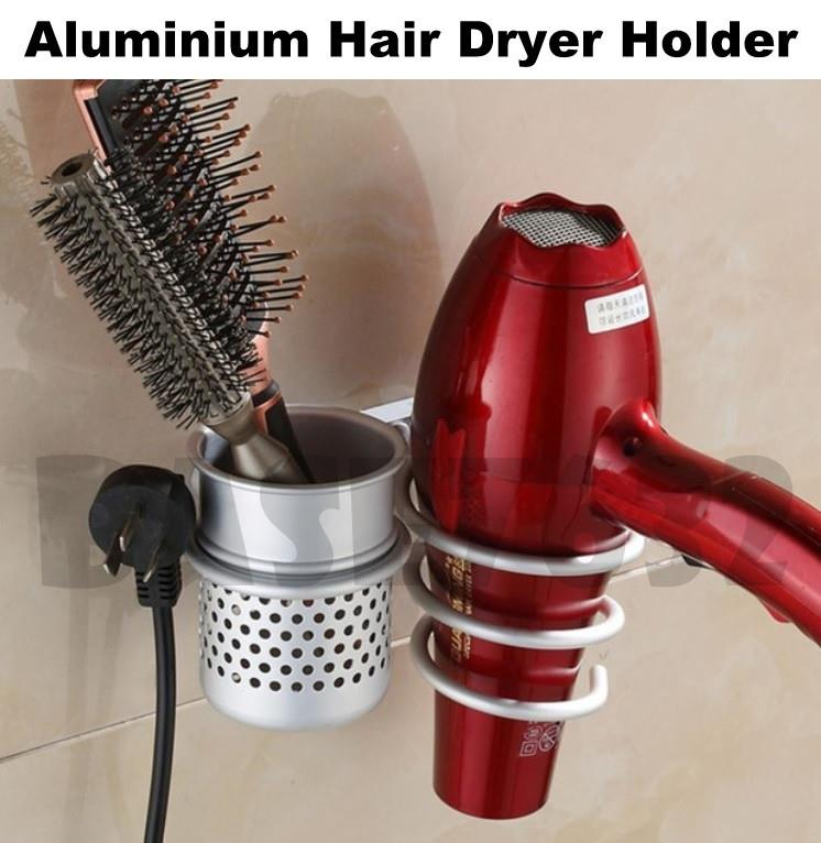 Aluminium Wall Mounted Hair Dryer Comb Holder Rack Hanger 1923.1