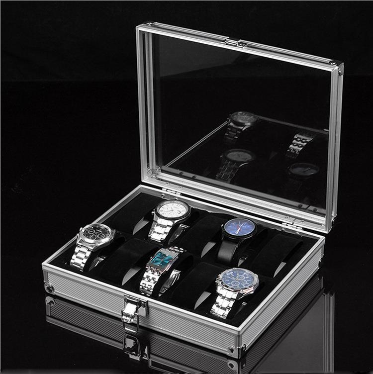 f050e8cce846 NEW! Aluminium Watch 12 Slot Case Storage Box Watches