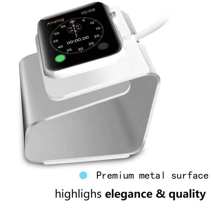 Aluminum Alloy Charging Dock Station Charger Stand for Apple iWatch