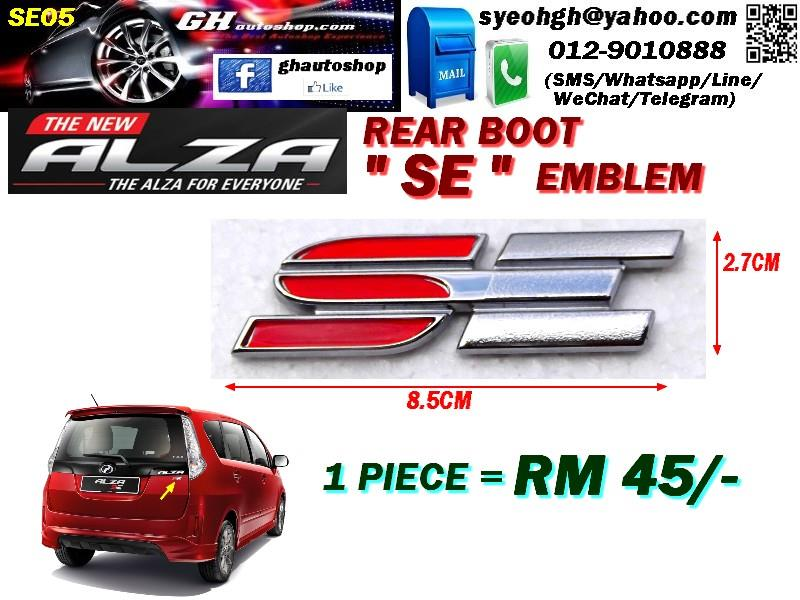 NEW ALZA rear boot SE logo emblem