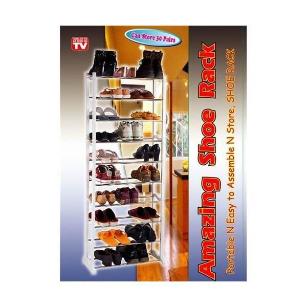 amazing shoe rack 10 tiers 30 pair