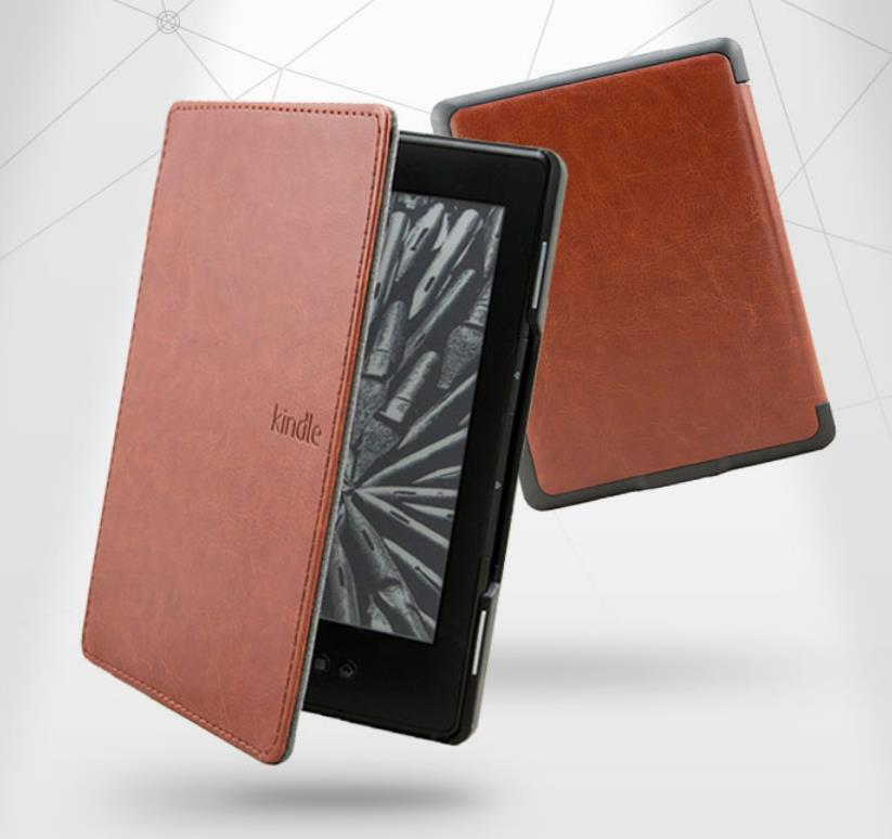 Amazon Kindle 4 5 eReader Review Flip PU Leather Case Cover Casing