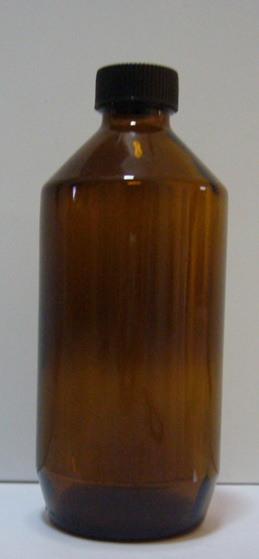 ea8b898d7e143 Amber glass bottle with plastic screw cap, 500mL
