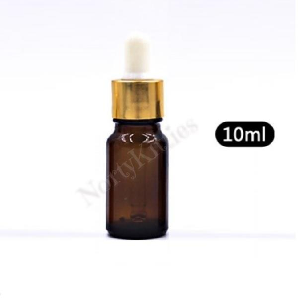 Amber Glass Dropper Bottle, DIY Essential Oil (10ml)