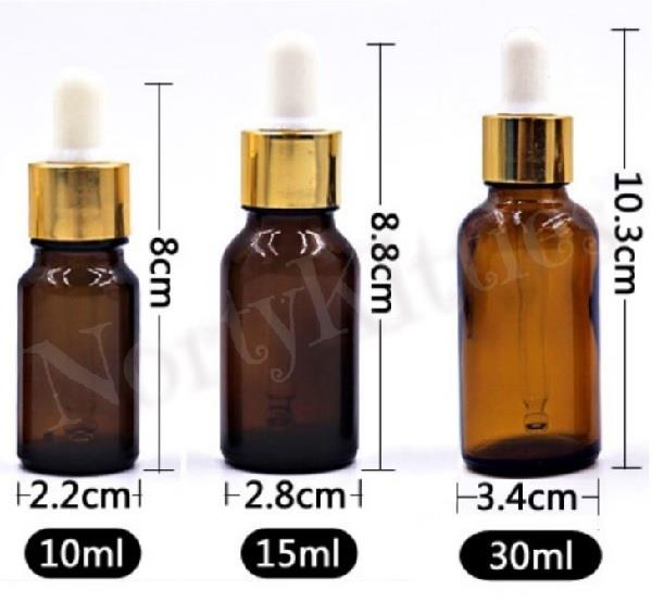 Amber Glass Dropper Bottle, DIY Essential Oil (30ml)