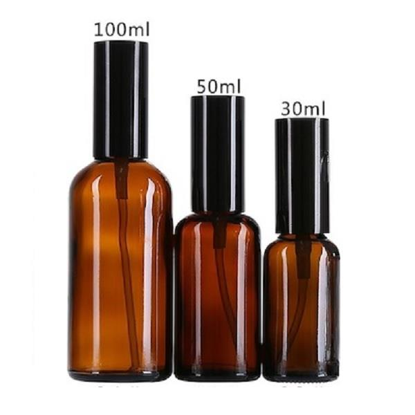 Amber Glass Spray Bottle, DIY Mist Perfume Spray (100ml)