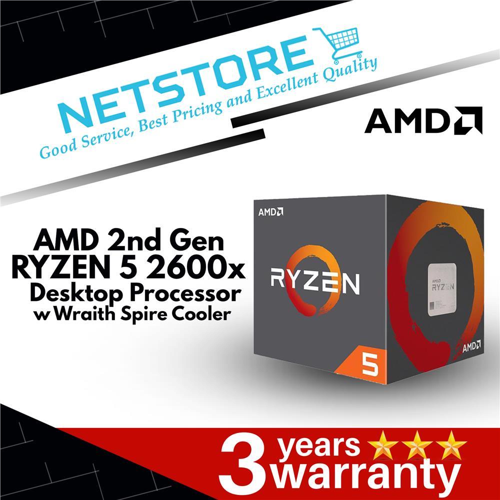 AMD 2nd Generation Ryzen 5 2600x Processor with Wraith Spire Cooler