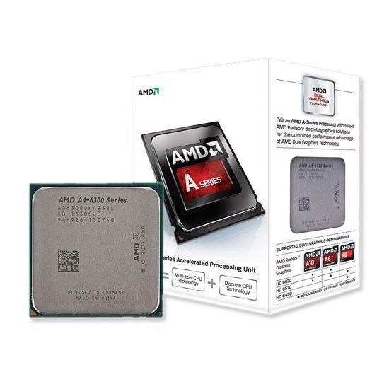 AMD A4-6300 Dual Core CPU Processor 3.7GHz (Socket FN2) (CP-UE-010)